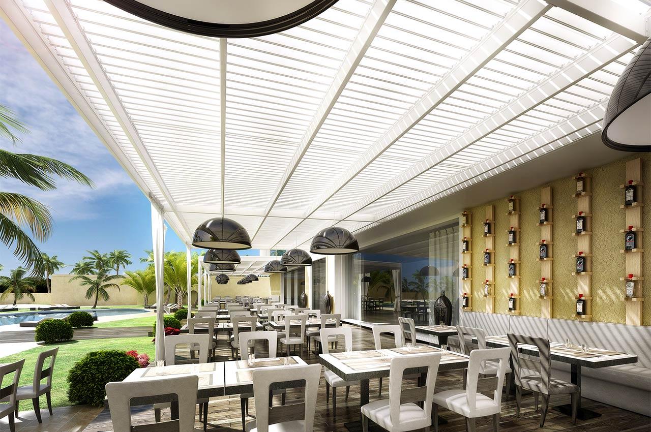 Pergola for Luxury restaurants